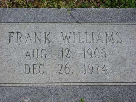 WILLIAMS, FRANK - Monroe County, Arkansas | FRANK WILLIAMS - Arkansas Gravestone Photos