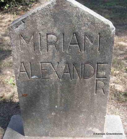 ALEXANDER, MIRIAM - Montgomery County, Arkansas | MIRIAM ALEXANDER - Arkansas Gravestone Photos