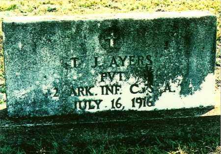AYERS (VETERAN CSA), THOMAS JEFFERSON - Montgomery County, Arkansas   THOMAS JEFFERSON AYERS (VETERAN CSA) - Arkansas Gravestone Photos