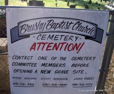 *BRUSHY CREEK, SIGN - Montgomery County, Arkansas | SIGN *BRUSHY CREEK - Arkansas Gravestone Photos