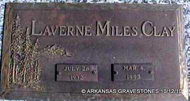 CLAY, LAVERNE - Montgomery County, Arkansas   LAVERNE CLAY - Arkansas Gravestone Photos