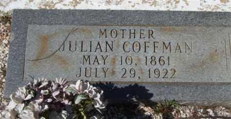 COFFMAN, JULIAN (CLOSEUP) - Montgomery County, Arkansas   JULIAN (CLOSEUP) COFFMAN - Arkansas Gravestone Photos