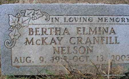 NELSON, BERTHA ELMINA - Montgomery County, Arkansas | BERTHA ELMINA NELSON - Arkansas Gravestone Photos