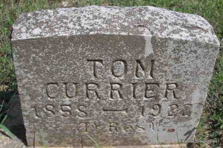 CURRIER, TOM - Montgomery County, Arkansas | TOM CURRIER - Arkansas Gravestone Photos