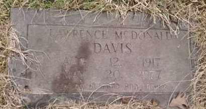 DAVIS, LAWRENCE MCDONALD - Montgomery County, Arkansas | LAWRENCE MCDONALD DAVIS - Arkansas Gravestone Photos