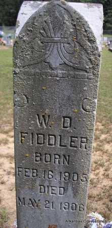 FIDDLER, W D - Montgomery County, Arkansas | W D FIDDLER - Arkansas Gravestone Photos