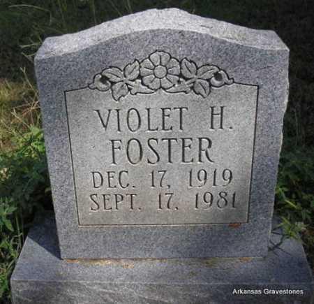 FOSTER, VIOLET  H - Montgomery County, Arkansas | VIOLET  H FOSTER - Arkansas Gravestone Photos