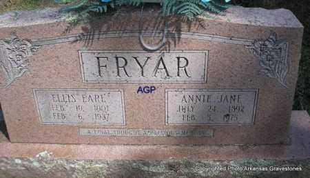 FRYAR, ELLIS EARL - Montgomery County, Arkansas   ELLIS EARL FRYAR - Arkansas Gravestone Photos