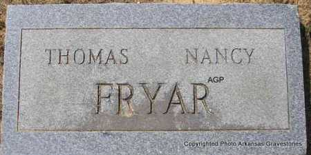 FRYAR, NANCY - Montgomery County, Arkansas | NANCY FRYAR - Arkansas Gravestone Photos