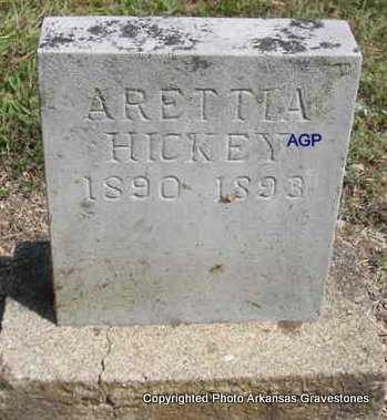 HICKEY, ARETTIA - Montgomery County, Arkansas   ARETTIA HICKEY - Arkansas Gravestone Photos
