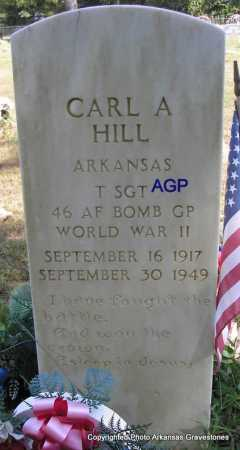 HILL  (VETERAN WWII), CARL A - Montgomery County, Arkansas | CARL A HILL  (VETERAN WWII) - Arkansas Gravestone Photos