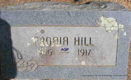 HILL, FRONIA - Montgomery County, Arkansas | FRONIA HILL - Arkansas Gravestone Photos
