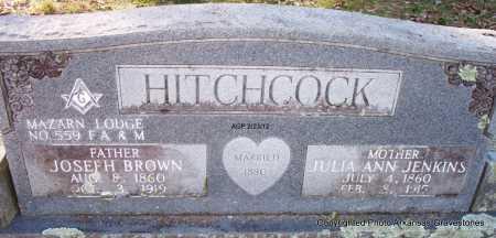 HITCHCOCK, JOSEPH BROWN - Montgomery County, Arkansas   JOSEPH BROWN HITCHCOCK - Arkansas Gravestone Photos