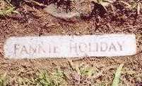 HOLIDAY, FANNIE - Montgomery County, Arkansas   FANNIE HOLIDAY - Arkansas Gravestone Photos