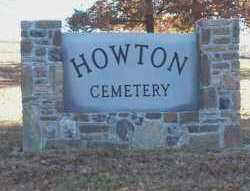 *HOWTON CEMETERY SIGN,  - Montgomery County, Arkansas |  *HOWTON CEMETERY SIGN - Arkansas Gravestone Photos