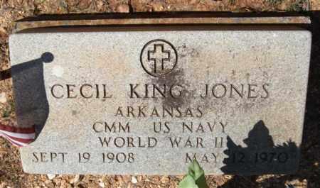 JONES (VETERAN WWII), CECIL KING - Montgomery County, Arkansas   CECIL KING JONES (VETERAN WWII) - Arkansas Gravestone Photos