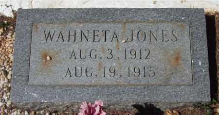 JONES, WAHNETA - Montgomery County, Arkansas | WAHNETA JONES - Arkansas Gravestone Photos