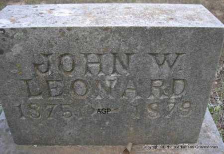 LEONARD, JOHN W - Montgomery County, Arkansas | JOHN W LEONARD - Arkansas Gravestone Photos