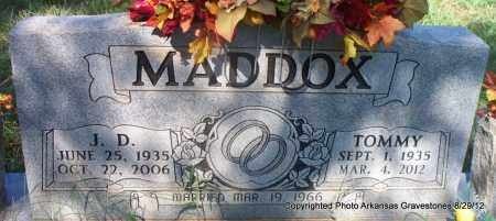 MADDOX, J D - Montgomery County, Arkansas | J D MADDOX - Arkansas Gravestone Photos