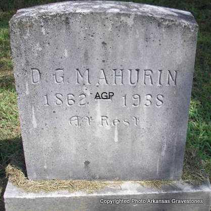 MAHURIN, D G - Montgomery County, Arkansas   D G MAHURIN - Arkansas Gravestone Photos
