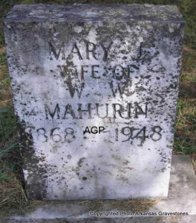 MAHURIN, MARY - Montgomery County, Arkansas   MARY MAHURIN - Arkansas Gravestone Photos
