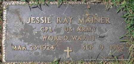 MAINER  (VETERAN WWII), JESSIE RAY - Montgomery County, Arkansas | JESSIE RAY MAINER  (VETERAN WWII) - Arkansas Gravestone Photos