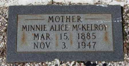 MCKELROY, MINNIE ALICE - Montgomery County, Arkansas | MINNIE ALICE MCKELROY - Arkansas Gravestone Photos