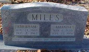 MILES, ABRAHAM LINCOLN - Montgomery County, Arkansas | ABRAHAM LINCOLN MILES - Arkansas Gravestone Photos