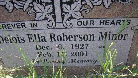ROBERSON MINOR, DELOIS ELLA - Montgomery County, Arkansas | DELOIS ELLA ROBERSON MINOR - Arkansas Gravestone Photos