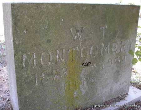 MONTGOMERY, W T - Montgomery County, Arkansas | W T MONTGOMERY - Arkansas Gravestone Photos