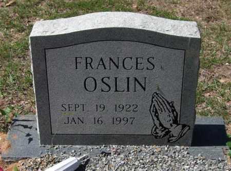 OSLIN, FRANCES - Montgomery County, Arkansas | FRANCES OSLIN - Arkansas Gravestone Photos