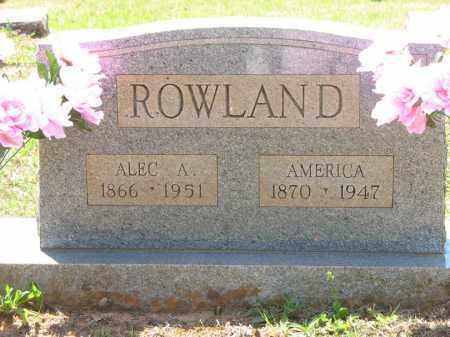 SUTTON ROWLAND, AMERICA ANGELINE - Montgomery County, Arkansas | AMERICA ANGELINE SUTTON ROWLAND - Arkansas Gravestone Photos