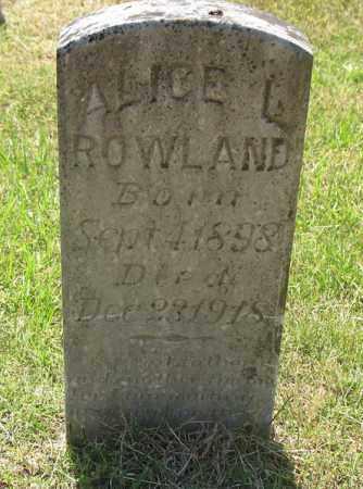 BREASHEARS ROWLAND, ALICE L. - Montgomery County, Arkansas   ALICE L. BREASHEARS ROWLAND - Arkansas Gravestone Photos