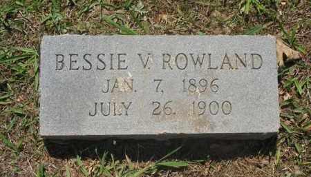 ROWLAND, BESSIE V. - Montgomery County, Arkansas | BESSIE V. ROWLAND - Arkansas Gravestone Photos