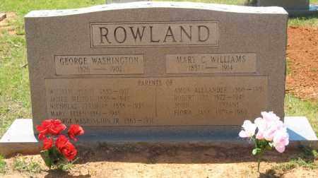 ROWLAND, GEORGE WASHINGTON - Montgomery County, Arkansas | GEORGE WASHINGTON ROWLAND - Arkansas Gravestone Photos