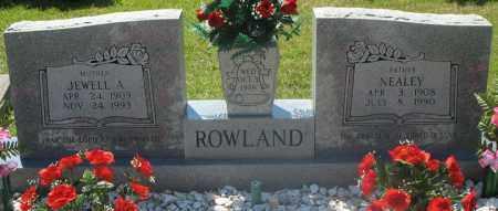 ROWLAND, NEALEY - Montgomery County, Arkansas   NEALEY ROWLAND - Arkansas Gravestone Photos