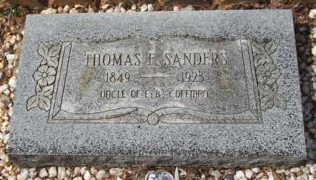 SANDERS, THOMAS F - Montgomery County, Arkansas | THOMAS F SANDERS - Arkansas Gravestone Photos
