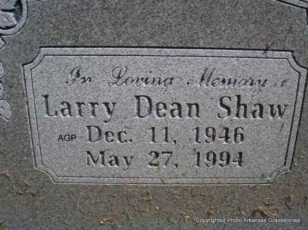 SHAW, LARRY DEAN - Montgomery County, Arkansas | LARRY DEAN SHAW - Arkansas Gravestone Photos