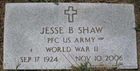 SHAW  (VETERAN WWII), JESSE B - Montgomery County, Arkansas | JESSE B SHAW  (VETERAN WWII) - Arkansas Gravestone Photos