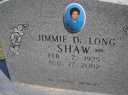 LONG SHAW, JIMMIE D. - Montgomery County, Arkansas | JIMMIE D. LONG SHAW - Arkansas Gravestone Photos