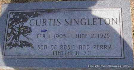 SINGLETON, CURTIS - Montgomery County, Arkansas   CURTIS SINGLETON - Arkansas Gravestone Photos