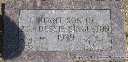 SINGLETON, INFANT SON - Montgomery County, Arkansas | INFANT SON SINGLETON - Arkansas Gravestone Photos