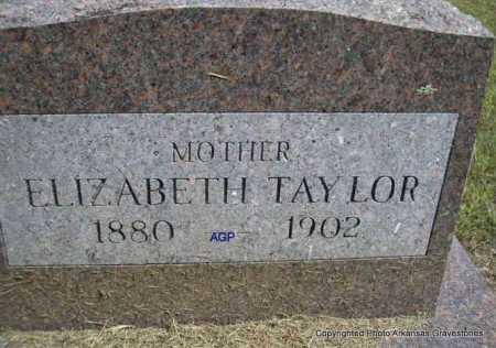 TAYLOR, ELIZABETH - Montgomery County, Arkansas | ELIZABETH TAYLOR - Arkansas Gravestone Photos