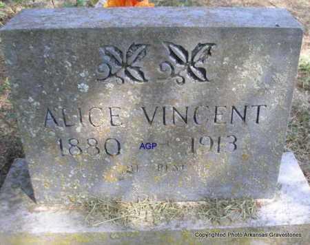 VINCENT, ALICE - Montgomery County, Arkansas | ALICE VINCENT - Arkansas Gravestone Photos