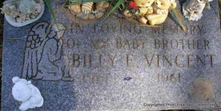 VINCENT, BILLY E. - Montgomery County, Arkansas   BILLY E. VINCENT - Arkansas Gravestone Photos