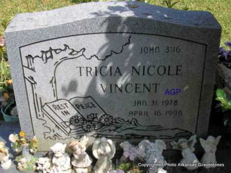 VINCENT, TRICIA NICOLE - Montgomery County, Arkansas | TRICIA NICOLE VINCENT - Arkansas Gravestone Photos