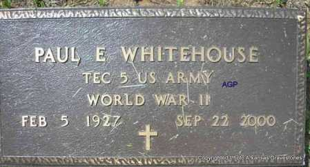 WHITEHOUSE  (VETERAN WWII), PAUL E - Montgomery County, Arkansas | PAUL E WHITEHOUSE  (VETERAN WWII) - Arkansas Gravestone Photos