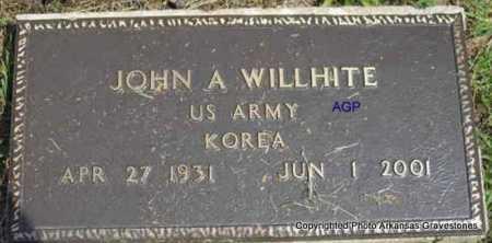 WILLHITE  (VETERAN KOR), JOHN A - Montgomery County, Arkansas | JOHN A WILLHITE  (VETERAN KOR) - Arkansas Gravestone Photos