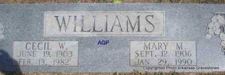 WILLIAMS, CECIL W - Montgomery County, Arkansas | CECIL W WILLIAMS - Arkansas Gravestone Photos