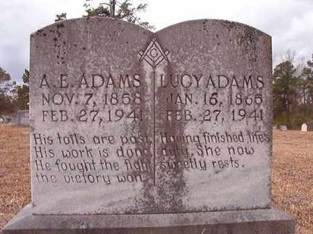 ADAMS, LUCY - Nevada County, Arkansas   LUCY ADAMS - Arkansas Gravestone Photos